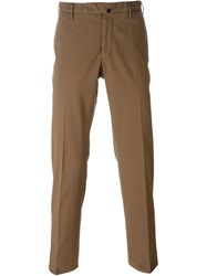 Incotex Front Pleated Trousers Brown