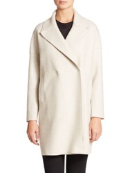 Harris Wharf London Wool Oversized Collar Coat Ecru