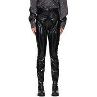 Rag And Bone Black High Rise Vinyl Skinny Trousers