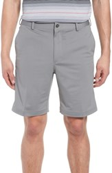 Bobby Jones Big And Tall Trim Fit Tech Chino Shorts Graphite Heather