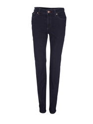 Lands' End Mid Rise Slim Fit Dark Indigo Wash Jeans Denim Dark Indigo