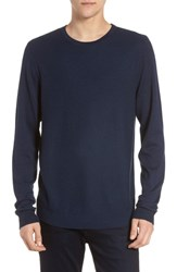 Calibrate Honeycomb Crewneck Sweater Blue Estate