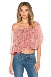 Twelfth St. By Cynthia Vincent Modern Peasant Top Red