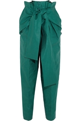 Jonathan Saunders Macy Pleated Linen Straight Leg Pants