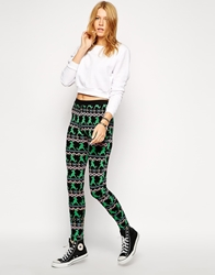 Worn By Dinosaur Aztec Print Leggings Multi