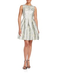 Vince Camuto Sleeveless Metallic Fit And Flare Dress Silver