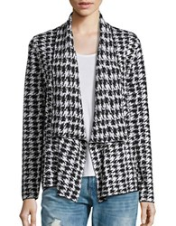 Nipon Boutique Houndstooth Knit Sweater Black White