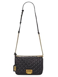 Badgley Mischka Coralie Leather Shoulder Bag Black