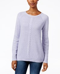 Karen Scott Marled Cable Knit Sweater Only At Macy's Winter Bliss