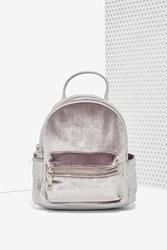 Nasty Gal Margot Velvet Mini Backpack