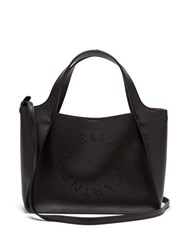 Stella Mccartney Stella Perforated Logo Faux Leather Tote Bag Black
