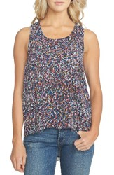 1.State Women's High Low Crepe Tank