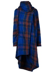 Vivienne Westwood Anglomania Blanket Cape Coat Blue