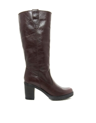Asos Colorado Leather Knee High Boots Brown
