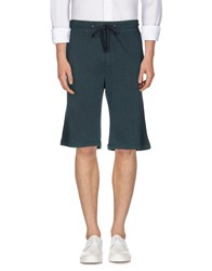 James Perse Standard Trousers Bermuda Shorts Men Dark Green