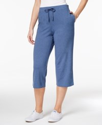 Karen Scott Pull On Knit Capri Pants Only At Macy's Heather Indigo