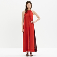 Madewell Aruba Cover Up Maxi Dress In Colorblock