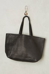 Anthropologie Oversized Leather Tote Black