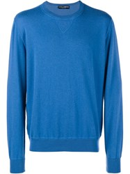 Dolce And Gabbana Cashmere Jumper Blue