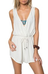 O'neill Women's Danika Cover Up Romper Vanilla