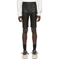Adidas By Alexander Wang Originals Black Faux Leather Shorts