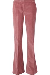 Gabriela Hearst Thompson Corduroy Flared Pants Antique Rose