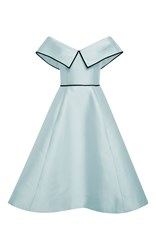 Elizabeth Kennedy Light Blue Off The Shoulder Cocktail Dress