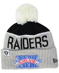New Era Los Angeles Raiders Super Bowl Sport Knit Hat Gray Black White