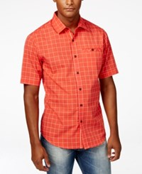 Sean John Men's Plaid Dobby Short Sleeve Shirt