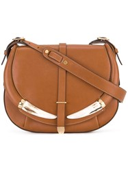 Roberto Cavalli Flap Shoulder Bag Brown
