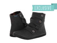 Blowfish Rabbit Grey 2 Tone Flannel Women's Zip Boots Gray
