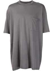 Lanvin Oversized T Shirt Grey