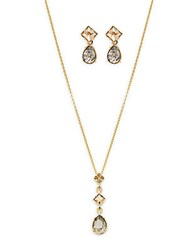Swarovski Geometric Crystal Necklace And Earring Set No Color