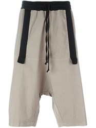 Lost And Found Rooms Drawstring Track Shorts Grey