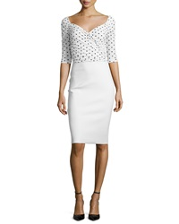 La Petite Robe Di Chiara Boni Lexi Polka Dot 3 4 Sleeve Sheath Dress