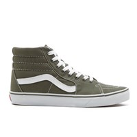 Vans Men's Sk8 Hi Canvas Hi Top Trainers Grape Leaf Green