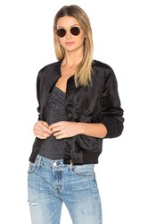 Sanctuary Velvet Bomber Jacket Black