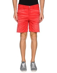 Just Cavalli Denim Bermudas Red