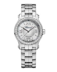 Chopard 30Mm Happy Sport Mini Watch With Diamonds