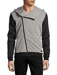 Civil Society Martin Off The Center Zipper Jacket Heather Grey
