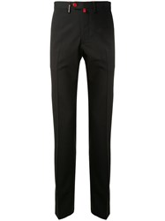 Kiton Mid Rise Slim Chinos Black