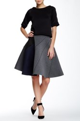 Gracia Colorblock A Line Skirt Gray