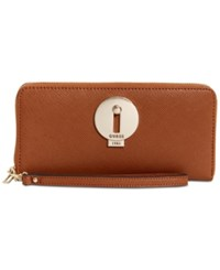 Guess Augustina Boxed Zip Around Wallet A Macy's Exclusive Style Cognac