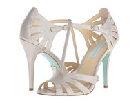Blue By Betsey Johnson Tee Silver Shimmer High Heels