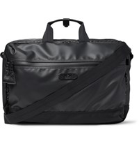 Master Piece Slick Waterproof Rubberised Leather And Cordura Convertible Bag Black