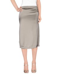 Manila Grace Skirts 3 4 Length Skirts Women Grey