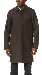 Patrik Ervell Wool Overcoat Smoke Brown