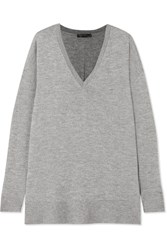 The Row Amherst Oversized Cashmere And Silk Blend Sweater Gray