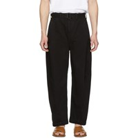Christophe Lemaire Black Twisted Chino Trousers