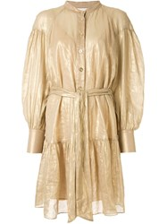 Ginger And Smart Glorious Metallized Shirt Dress 60